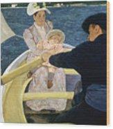 Cassatt: Boating, 1893-4 Wood Print by Granger