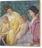Cassatt: The Swim, 1910 Wood Print