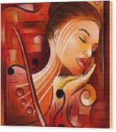 Casselopia - Violin Dream Wood Print