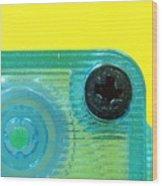 Cassette Tape Closeup Wood Print