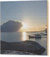 Cast A Giant Shadow... Reine Lofoten Wood Print