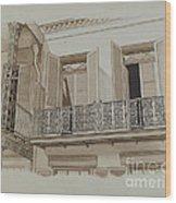 Cast Iron Balcony Rail Wood Print