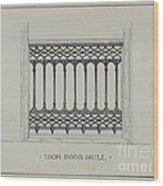 Cast Iron Balcony Railing Wood Print