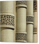 Cast Iron Columns Wood Print