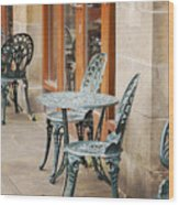 Cast Iron Garden Furniture Wood Print