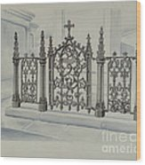 Cast Iron Gate And Fence Wood Print