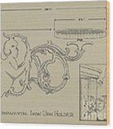 Cast Iron Urn Holder Wood Print