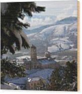 Castel Del Monte Abruzzo Italy Wood Print