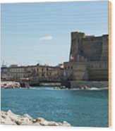 Castel Dell'ovo, Naples, Italy Wood Print
