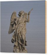 Castel St. Angelo Angel Wood Print