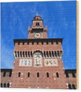 Castello Sforzesco Tower Wood Print