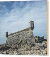 Castelo Do Queijo Old Fort Landmark In Porto Portugal Wood Print
