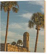 Castillo De San Marcos Dawn II Wood Print