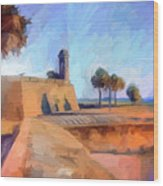 Castillo Rampart Wood Print