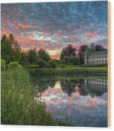 Castle And Pond Wood Print