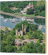 Castle At Glen Island Wood Print
