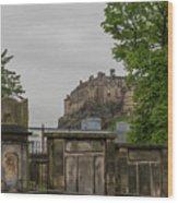 Castle Behind Cemetery Wood Print