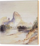Castle Butte, Green River, Wyoming Wood Print