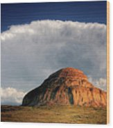 Castle Butte In Big Muddy Valley Of Saskatchewan Wood Print