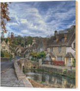 Castle Combe England Wood Print