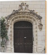 Castle Entrance Door Wood Print
