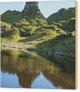 Castle Ewan With Reflection Wood Print