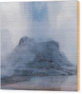 Castle Geyser Eruption Wood Print