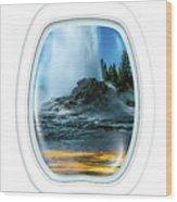 Castle Geyser Portholes Wood Print