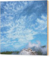 Castle Geyser Yellowstone Np Photo Painting_grk7577_05262018 Wood Print