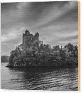 Castle Grey Wood Print