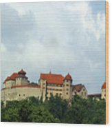 Castle Harburg Wood Print