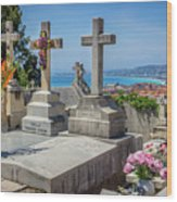 Castle Hill Graves Overlooking Nice, France Wood Print
