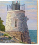 Castle Hill Light Newport Ri Wood Print