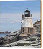 Castle Hill Lighthouse Newport Rhode Island 1 Wood Print