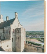 Castle In Chinon Wood Print