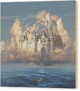 Castle In The Sky Wood Print