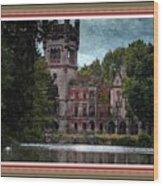 Castle Kapadia. L B With Decorative Ornate Printed Frame. Wood Print