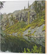 Castle Lake  Wood Print