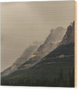Castle Mountain Wood Print