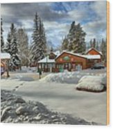 Castle Mountain Chalets Panorama Wood Print
