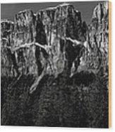 Castle Mountain Panoramic Wood Print