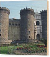Castle Nuovo Naples Italy Wood Print