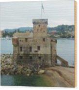 Castle Of Rapallo Wood Print