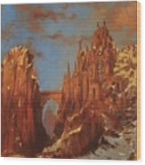 Castle Of The Mountain King Wood Print