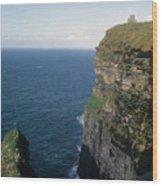 Castle On The Cliffs Of Moher Wood Print