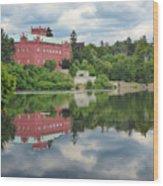 Castle On The Lake Wood Print