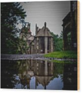 Castle Reflections Wood Print