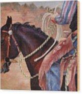 Castle Rock Buckaroo Western Cowboy Painting Wood Print