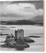 Castle Stalker - D002192bw Wood Print