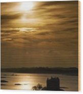 Castle Stalker At Sunset, Loch Laich Wood Print